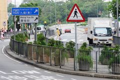 Straat van Hongkong. Stock Foto