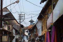 Straat van Indische stad Stock Foto's