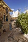 Straat van kunstenaars in de oude stad van Safed royalty-vrije stock afbeelding
