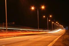 Straat van licht Royalty-vrije Stock Afbeelding