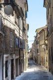 Straat van Macerata Stock Foto