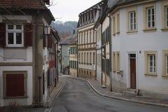 Straat van Middeleeuws Bamberg stock fotografie