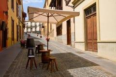 Straat van Orotava, Tenerife royalty-vrije stock afbeelding
