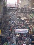 Straat van oud Delhi, India Stock Foto's