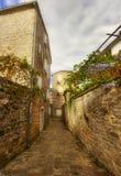 Straat van Oude Budva Royalty-vrije Stock Fotografie