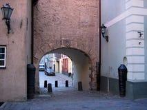Straat van oude stad. stock foto