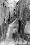 Straat van perigeux in zwart-wit Stock Fotografie