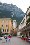 Straat van Riva del Garda Royalty-vrije Stock Foto