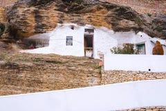 Straat van Setenil de las Bodegas, Andalusia, Spanje stock foto