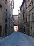 Straat van Siena Stock Foto