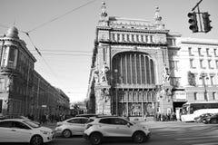 Straat van St. Petersburg Stock Foto's