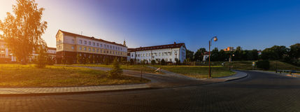 Straat van Stephen Bathory in Grodno, Wit-Rusland royalty-vrije stock fotografie