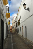 Straat van Zafra, Badajoz, Spanje Royalty-vrije Stock Foto