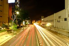 Straat vanavond Stock Foto
