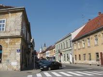 Straat in VaraÅ ¾ DIN stock afbeelding