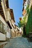 Straat in Veliko Tarnovo, Bulgarije royalty-vrije stock afbeelding