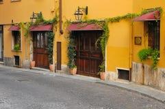 Straat in Verona in Italië stock foto's