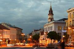 Straat in Vilnius. Stock Foto's