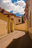 Straat in Vilnius, Litouwen Royalty-vrije Stock Afbeeldingen