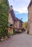 Straat in Yvoire stock foto