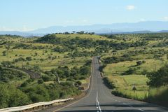 Straat in Zuid-Afrika royalty-vrije stock foto's