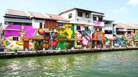 Straatart. Melaka, Maleisië Stock Fotografie
