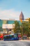 Straatauto dichtbij het Honderdjarige Olympische park stock foto