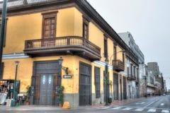Straatbalkons van Lima, Peru stock foto's