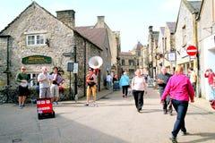 Straatbuskers in Bakewell, Derbyshire royalty-vrije stock fotografie