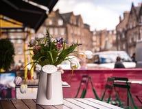 Straatcaffee in Edinburgh stock fotografie