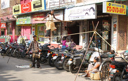 Straatcircus in India Stock Afbeeldingen