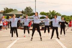 Straatdans in stedelijke stijl royalty-vrije stock fotografie