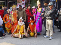Straatfestival, Hindoeïsmeboeddhisme Stock Afbeeldingen
