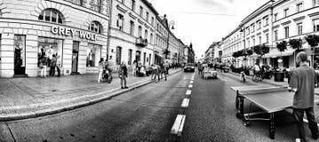 Straatfotografie Artistiek kijk in zwart-wit Royalty-vrije Stock Foto