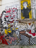 Straatgraffiti - Lissabon Royalty-vrije Stock Afbeelding