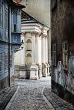 Straathoek in Bratislava Stock Foto's