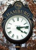Straathorloge in Hamburg, NJ Royalty-vrije Stock Afbeeldingen