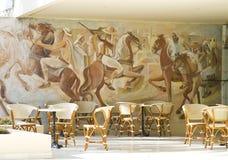 Straatkoffie in het hotel in Tunesië royalty-vrije stock foto's
