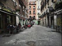 Straatkoffie Madrid, Spanje Stock Afbeelding