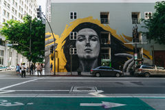 Straatkunst in Benedenstad Los Angeles Royalty-vrije Stock Foto's
