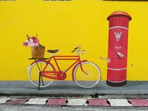 Straatkunst in Betong stock foto's