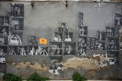 Straatkunst bij het Geboren district van Gr, op 09 Maart, 2013 in Barcelona, Spanje Royalty-vrije Stock Foto's