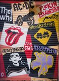 Straatkunst bij het Geboren district van Gr, op 11 Maart, 2013 in Barcelona, Spanje Royalty-vrije Stock Fotografie