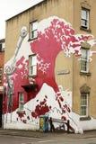 Straatkunst in Bristol, het Verenigd Koninkrijk stock afbeeldingen