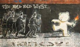 Straatkunst in Bristol, het Verenigd Koninkrijk stock foto's