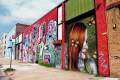 Straatkunst in Brooklyn - NY Stock Foto's