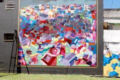 Straatkunst in de buurten van La Boca Stock Afbeelding