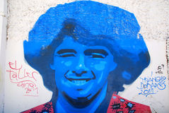 Straatkunst in de buurten van La Boca Royalty-vrije Stock Afbeeldingen