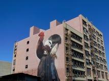 Straatkunst in de Manierdistrict van Los Angeles Royalty-vrije Stock Foto
