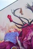 Straatkunst in Heerlen, Nederland Stock Afbeeldingen